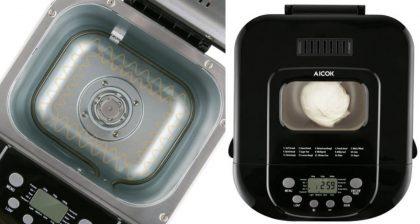 maquina de hacer pan aicok mbf004